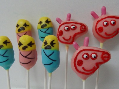 Cake pops peppa pig and lego babies