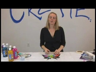 Children's Crafts: Paper Butterfly Sun Catchers : Butterfly Sun Catchers: Adult Supervision