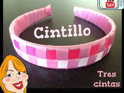 Como hacer un Cintillo de 3 cintas - How to make a headband | Creations Nani