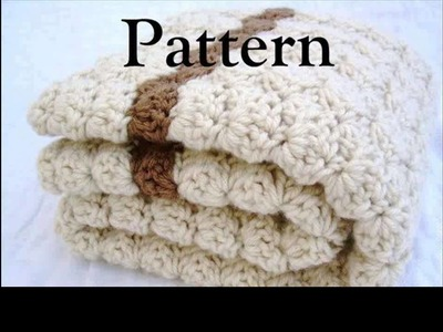 Crochet baby blanket for boy