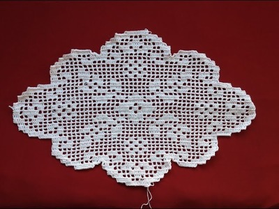 Crochet Oval Flower Filet Part 4