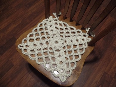 #Crochet Seat Chair Cover #TUTORIAL