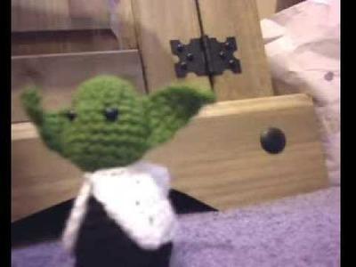 Crochet Yoda and la spider!