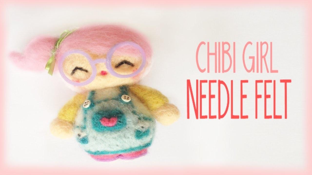 Cute Chibi Girl Needle Felt Tutorial