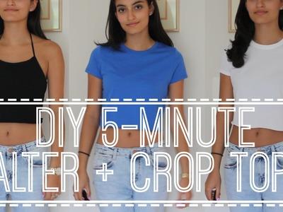 DIY 5-Minute Halter + Crop Tops