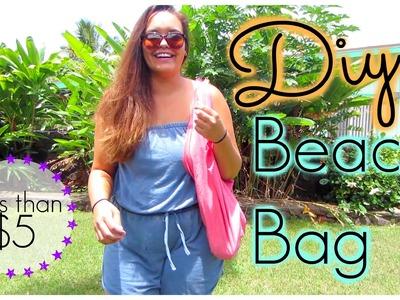 DIY Beach Bag | No Sew Tutorial