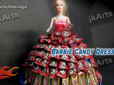 DIY Candy Created BARBIE Dress | How To Make A Candy Dress  | JK Arts 589