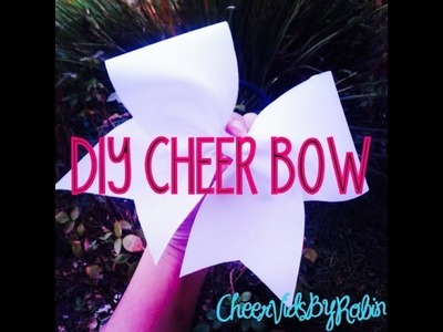 DIY CHEER BOW