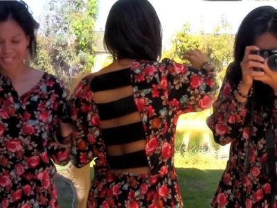 DIY Chic Strap Back Top From A Frumpy Dress