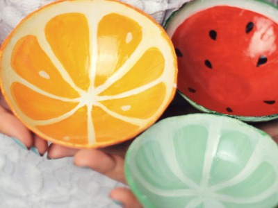 DIY: Clay Fruit Bowls from Scratch - Watermelon, Orange, Lime