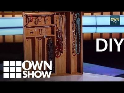 DIY: Create an ATTRACTIVE Jewelry Display! | #OWNSHOW | Oprah Winfrey Network