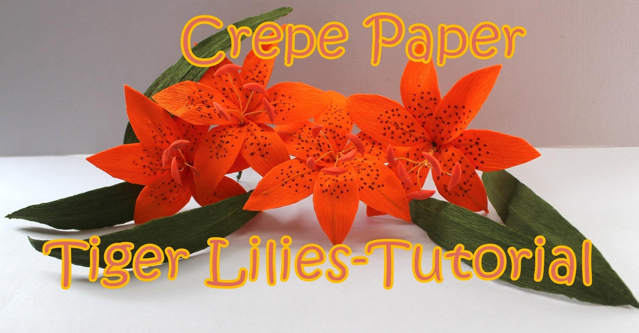 DIY: Crepe Paper Tiger Lily | Tutorial