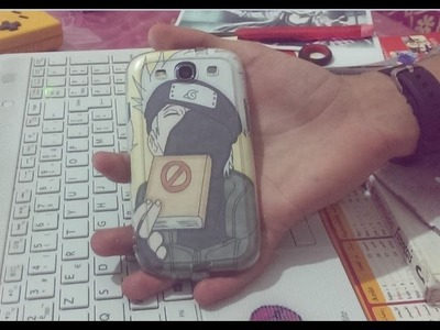 DIY : How to make easy anime phone case