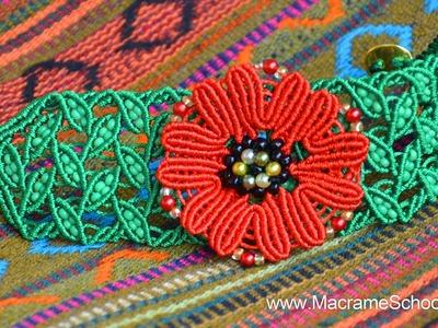 DIY Macramé Leaf Bracelet with Poppy