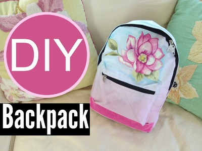 DIY Ombre Backpack for Back to School | by Michele Baratta