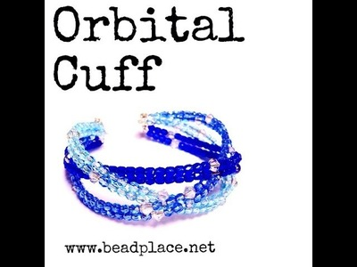 DIY Orbital Cuff Bracelet (Beaded & Braided Memory Wire Cuff)