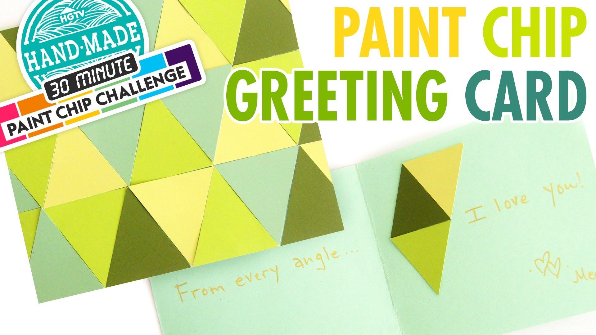 DIY Paint Chip Greeting Card - Meg's 30 Minute Craft Challenge - HGTV Handmade