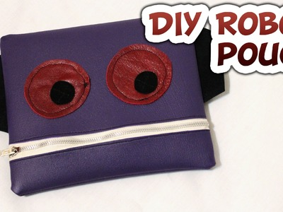 DIY Robot Zipper Pouch - Whitney Sews