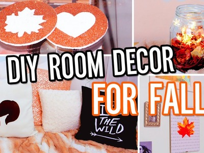 DIY Room Decor For Fall! Make Your Room Cozy: No-Sew Pillow, Tumblr Decorations & More!