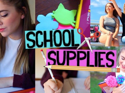 DIY School Supplies. Easy & Affordable Ideas for Back to School 2015