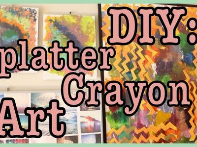 DIY: Splatter Crayon ART!