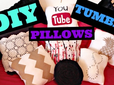 DIY TUMBLR INSPIRED PILLOWS!  - HowToByJordan