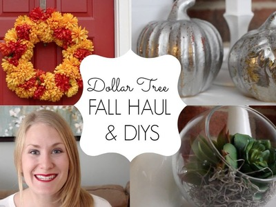 DOLLAR TREE FALL HAUL & DIYS | 2015 Collab