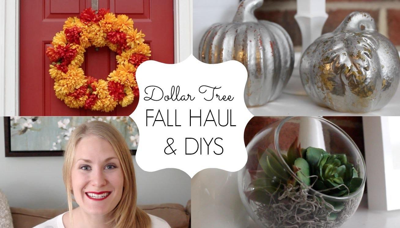 DOLLAR TREE FALL HAUL & DIYS | 2015 Collab