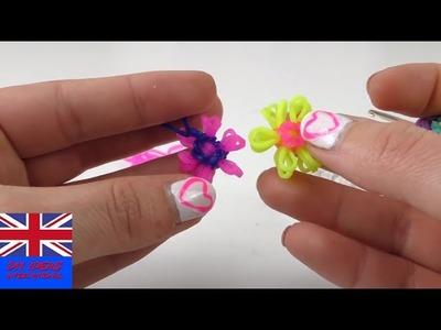 Easy Tutorial Rainbow Loom Flower Charms - How To Make A Loom Band Charm?