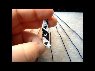 ► Friendship Bracelet Tutorial - Beginner - Candystripe w. Hearts