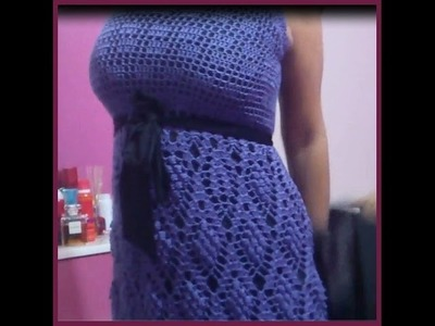 Grape Crochet Dress: Top PART 2
