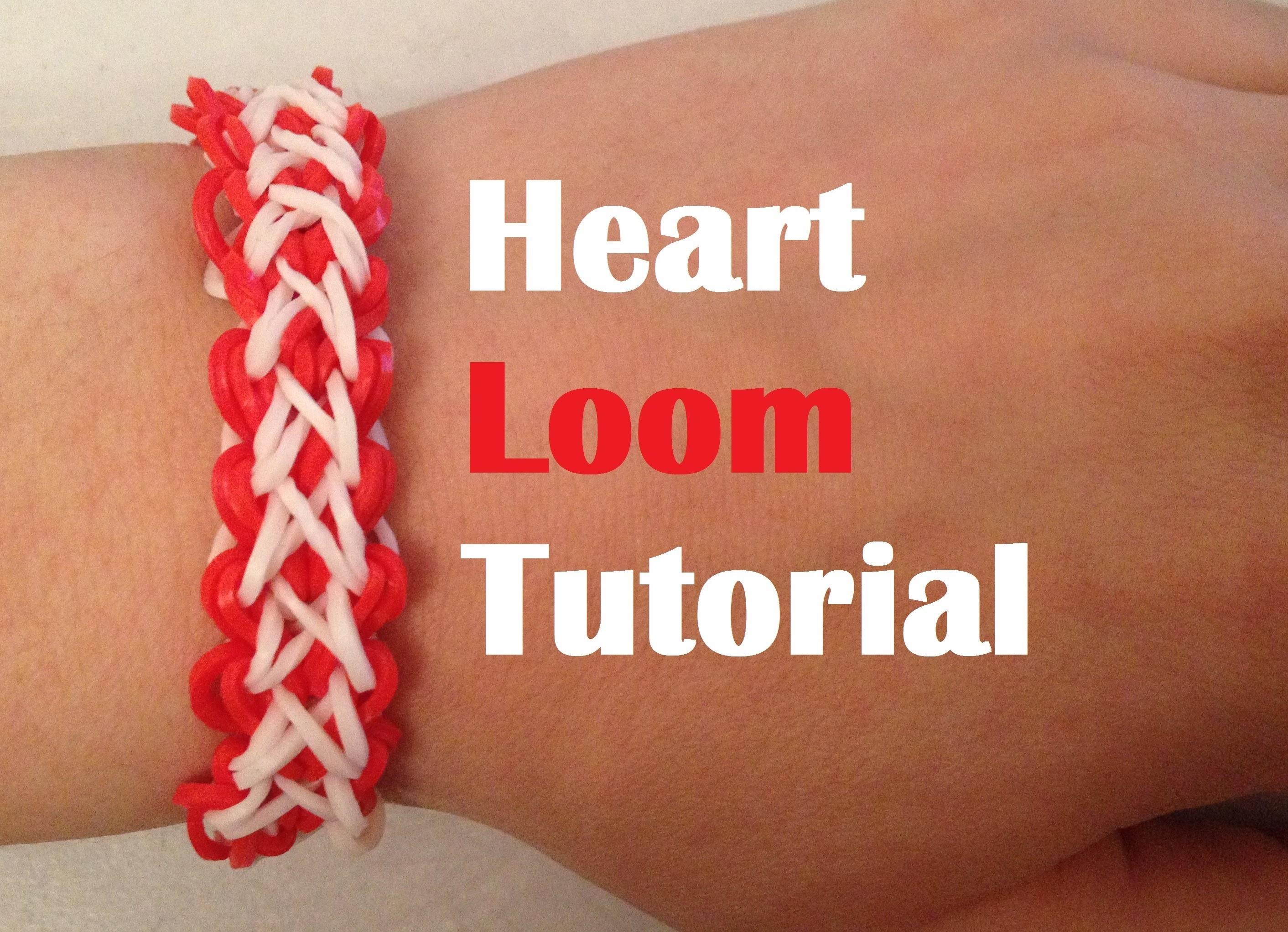 HEART Loom Bracelet tutorial Rainbow Loom l JasmineStarler