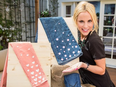 Home & Family - DIY Floral Jeans with Jessie Jane
