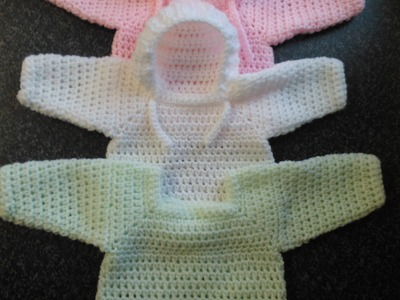 How to crochet my easy baby jumper.sweater.pull over.hoodie tutorial part 4