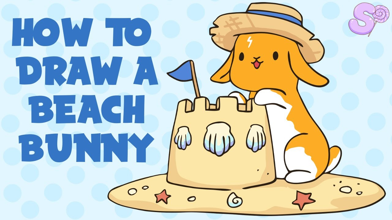 How to Draw a Beach Bunny | Drawing Tutorial (FREE TEMPLATE)