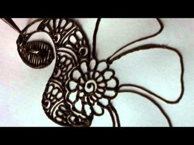 How to draw a peacock in henna.mehndi