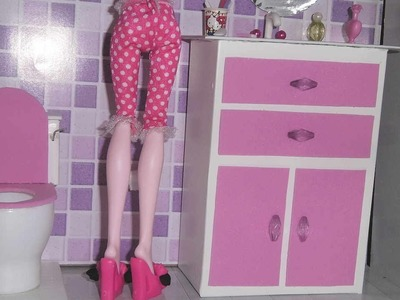 How to make a bathroom (Sink cabinet) for doll Monster High, Barbie, etc