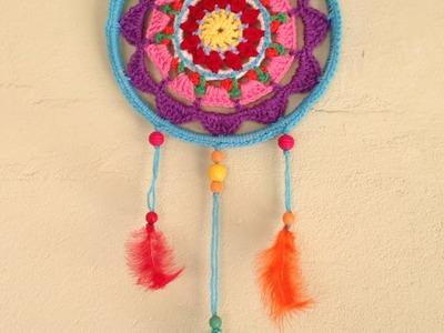 How To Make A Colorful Mandala Dreamcatcher - DIY Home Tutorial - Guidecentral