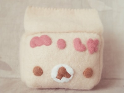 How To Make A Kawaii Korilakkuma Milk Carton Plushie Tutorial