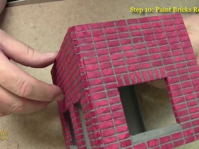 How to Make a Miniature Building with Stackbond Brick Work