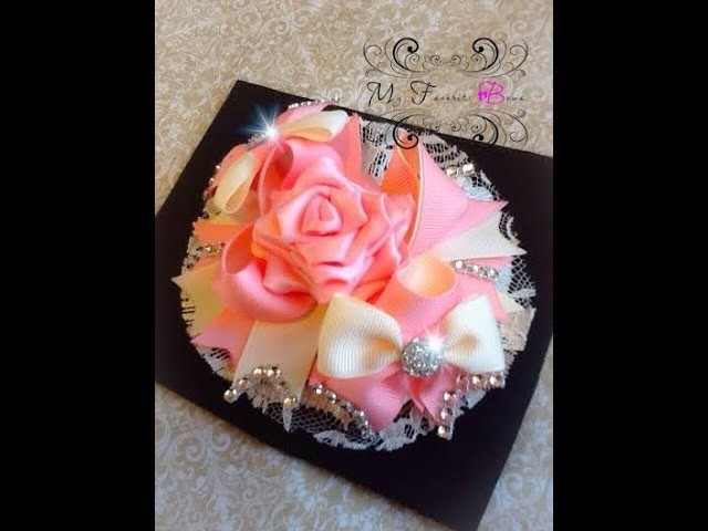 How to make a ribbon rose for your hair bows
