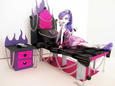 How to make a Spectra Vondergeist Doll Bed Tutorial. Monster High
