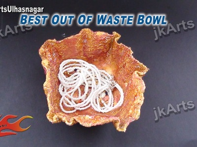 HOW TO: Make Bowl from waste cloth - JK Arts 520