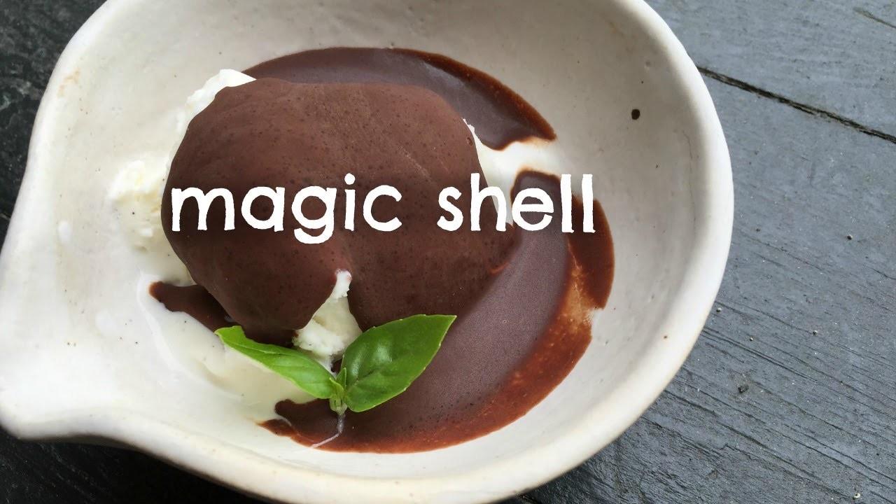 How to Make Magic Shell -Self-hardening Chocolate Sauce Recipe