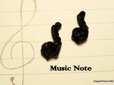 How to make Music Note Charm - How to - Rainbow Loom