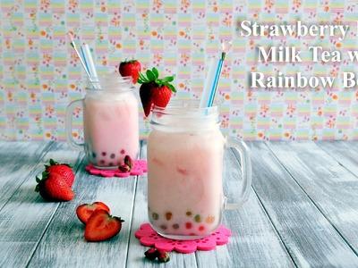 How to Make Strawberry Rose Milk Tea