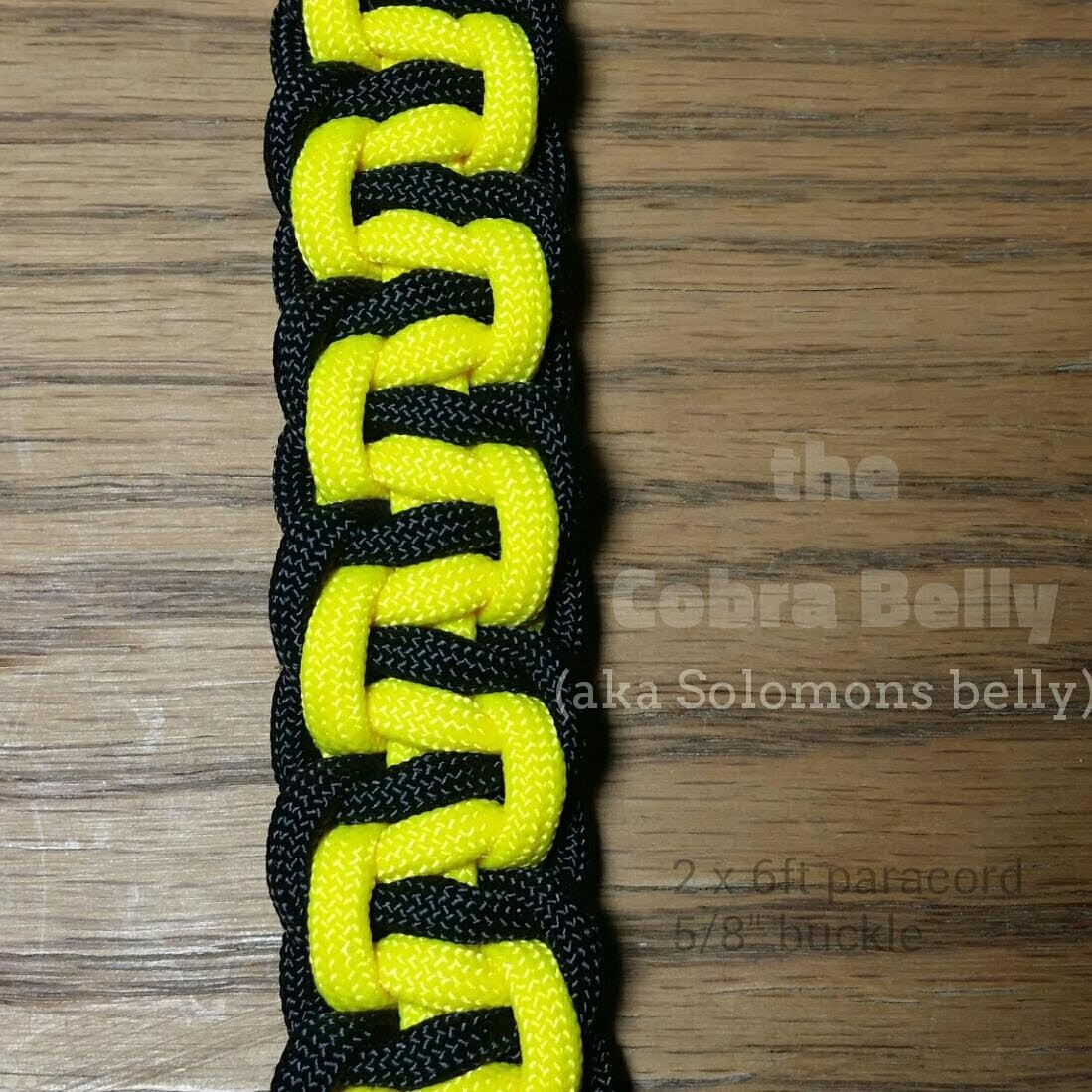 How to make the Cobra Belly Paracord Bracelet by gianoneil