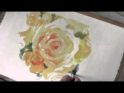 How to paint Roses in Watercolour by Trevor Waugh