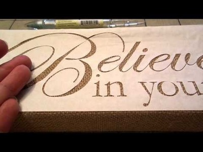 How to Stencil Burlap Signs DIY