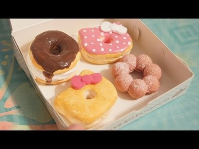 [ITS-CUTE] Hello Kitty Donut Set & Air Dry Clay Review